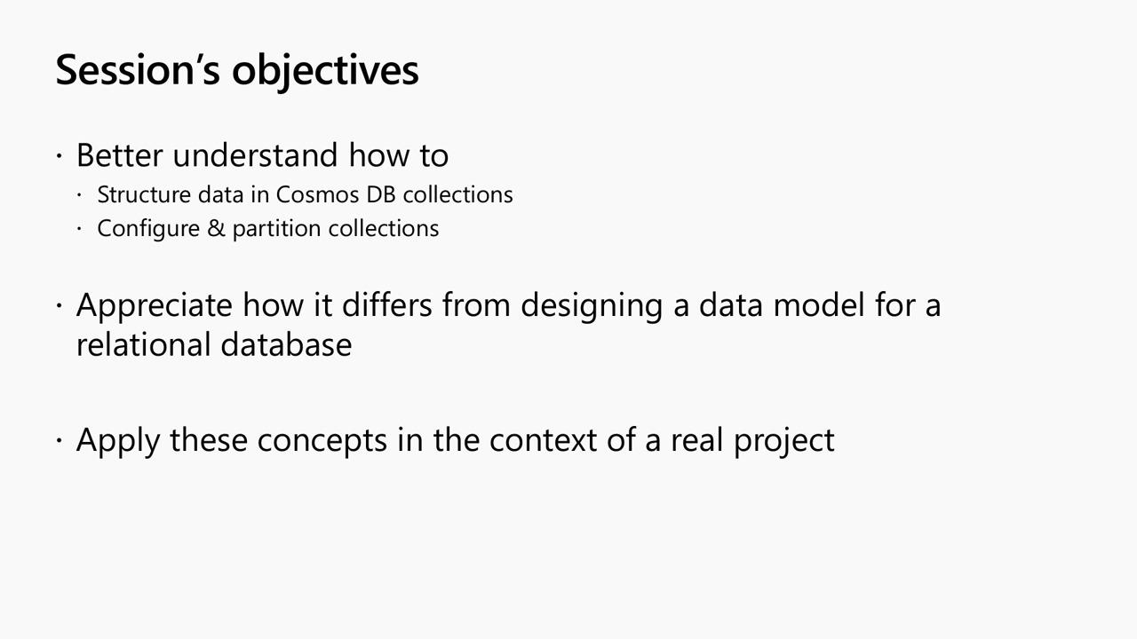 Best practices for Azure Cosmos DB: Data modeling, Partitioning and RUs