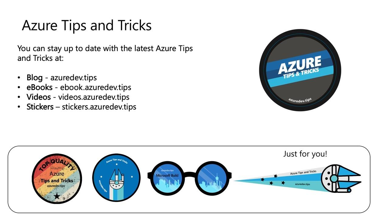 Azure Tips and Tricks: Become more productive with Azure