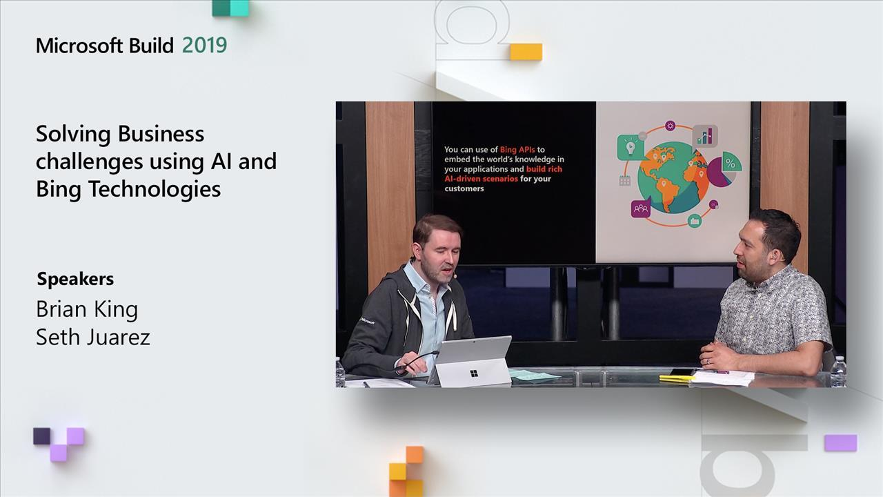 Solving Business challenges using AI and Bing Technologies