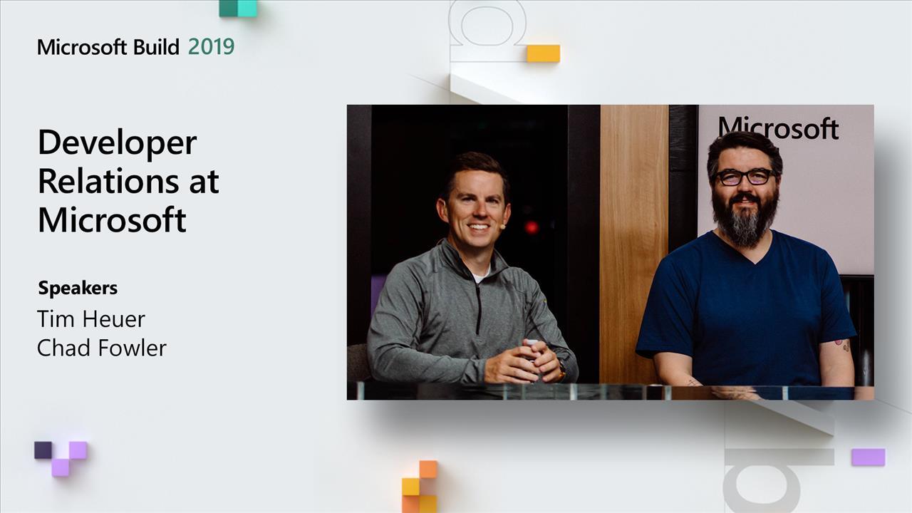 Developer Relations at Microsoft
